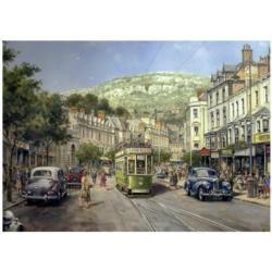 Shopping Days Street Scene Jigsaw Puzzle