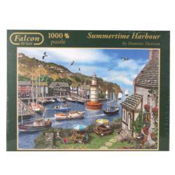 Summertime Harbour Seascape / Coastal Living Jigsaw Puzzle