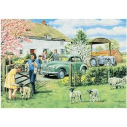 Spring Lambs Spring Jigsaw Puzzle