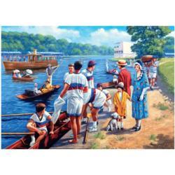 Rowing Regatta Nostalgic / Retro Jigsaw Puzzle