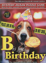 B is for Birthday! Murder Mystery Jigsaw Puzzle