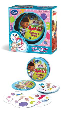 Spot It! Doc McStuffins Numbers and Shapes