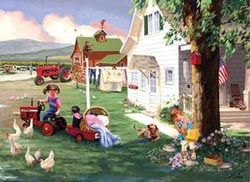 Country Chores (Farmall) Farm Jigsaw Puzzle