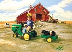 Tractor Ride (John Deere Tins) John Deere Jigsaw Puzzle