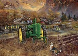Autumn in Deere Country (John Deere Boxes) John Deere Jigsaw Puzzle