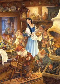 Snow White and the Seven Dwarfs (Fairytales Book) Princess Jigsaw Puzzle