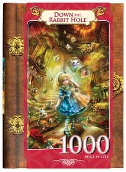 Down the Rabbit Hole (Classic Books) Movies / Books / TV Jigsaw Puzzle
