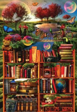 Imagination Through Reading Bookshelves Jigsaw Puzzle