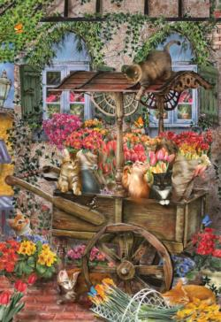 The Flower Cart Flowers Jigsaw Puzzle