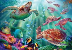 Turtle Voyage Turtles Jigsaw Puzzle