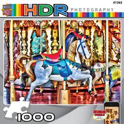 Prancing Ponies (HDR Photography) Carnival Jigsaw Puzzle