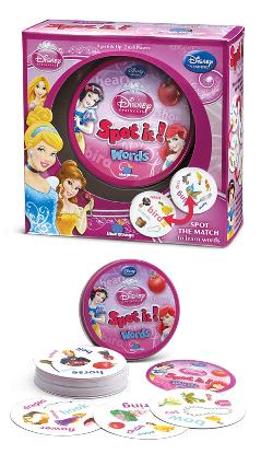 Spot It! Disney Princess Words Movies / Books / TV
