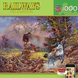 The Holdup of the Old #9 (Railways) Trains Jigsaw Puzzle