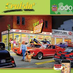 Crazy Ed's Speed Shop (Cruisin') Cars Jigsaw Puzzle