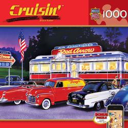 Dinner at the Red Arrow Nostalgic / Retro Jigsaw Puzzle