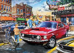 Dave's Diner (Childhood Dreams) Nostalgic / Retro Jigsaw Puzzle