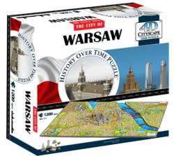 Warsaw, Poland Skyline / Cityscape Shaped