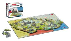 Czech Republic Cities 4D Puzzle