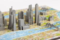 4D Mini New York Maps / Geography Miniature Puzzle