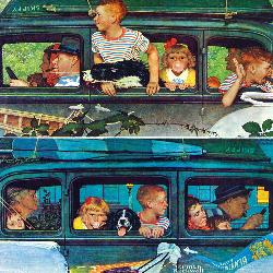 Coming and Going (The Saturday Evening Post) People Jigsaw Puzzle
