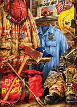 Fire and Rescue Patriotic Jigsaw Puzzle