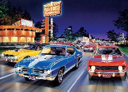 Woodward Avenue (Cruisin') Nostalgic / Retro Jigsaw Puzzle