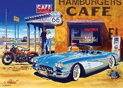Route 66 Café (Cruisin') Vehicles Jigsaw Puzzle