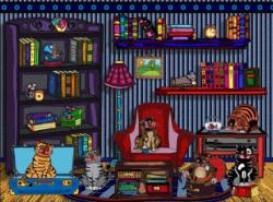 Cat's book club Cats Jigsaw Puzzle