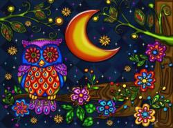 Owl night long Birds Jigsaw Puzzle