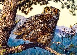 Great Horned Owl (Animal Planet) Nature Jigsaw Puzzle