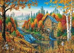 Johnson's Mill (Time Away) Mountains Jigsaw Puzzle