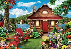 A Perfect Summer Cottage/Cabin Large Piece