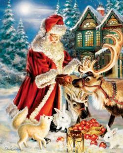 A Joyous Feast Santa Jigsaw Puzzle