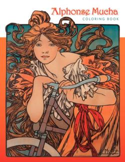 Alphonse Mucha Coloring Book Contemporary & Modern Art Coloring Book