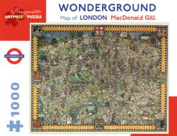 Wonderground Map of London Maps / Geography Jigsaw Puzzle