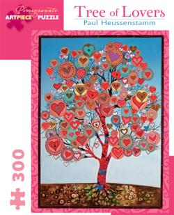 Tree Of Lovers Hearts Jigsaw Puzzle