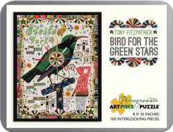 Bird for theGreen Stars Collage Jigsaw Puzzle