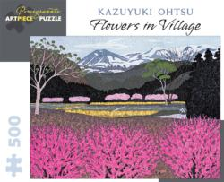 Flowers In Village Landscape Jigsaw Puzzle