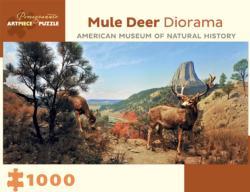 Mule Deer Diorama Wildlife Jigsaw Puzzle