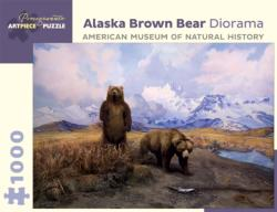 Alaska Brown Bear Diorama Nature Jigsaw Puzzle