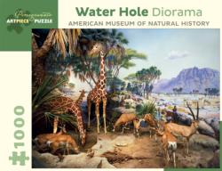 Water Hole Diorama Wildlife Jigsaw Puzzle