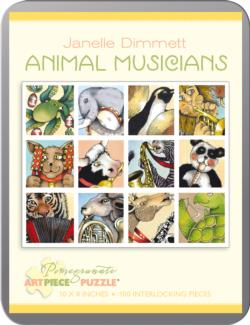 Animal Musicians Collage Collectible Packaging