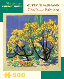 Cholla and Sahuaro Landscape Jigsaw Puzzle