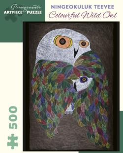 Colourful Wild Owl Owl Jigsaw Puzzle