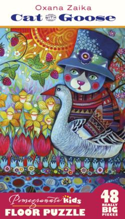 Cat With Goose Folk Art Children's Puzzles