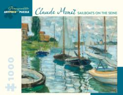 Sailboats On Seine Jigsaw Puzzle