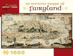 An Anciente Mappe of Fairyland Maps Panoramic Puzzle