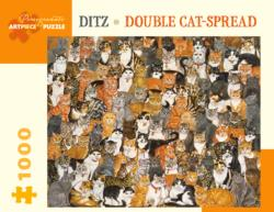 Double Catspread Cats Jigsaw Puzzle