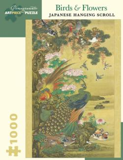 Birds & Flowers Japanese Scroll Asian Art Jigsaw Puzzle