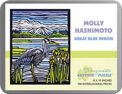 Great Blue Heron Contemporary & Modern Art Jigsaw Puzzle